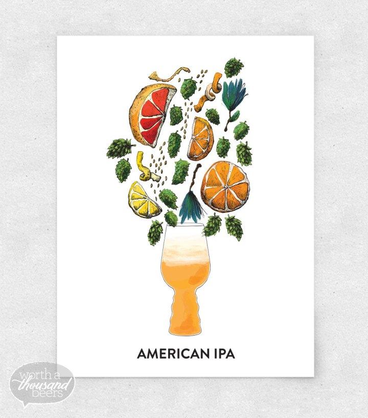 American IPA 8x10 Print