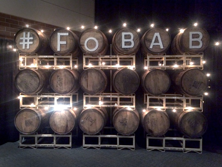 Hashtag FoBAB: Barrel photo backdrop