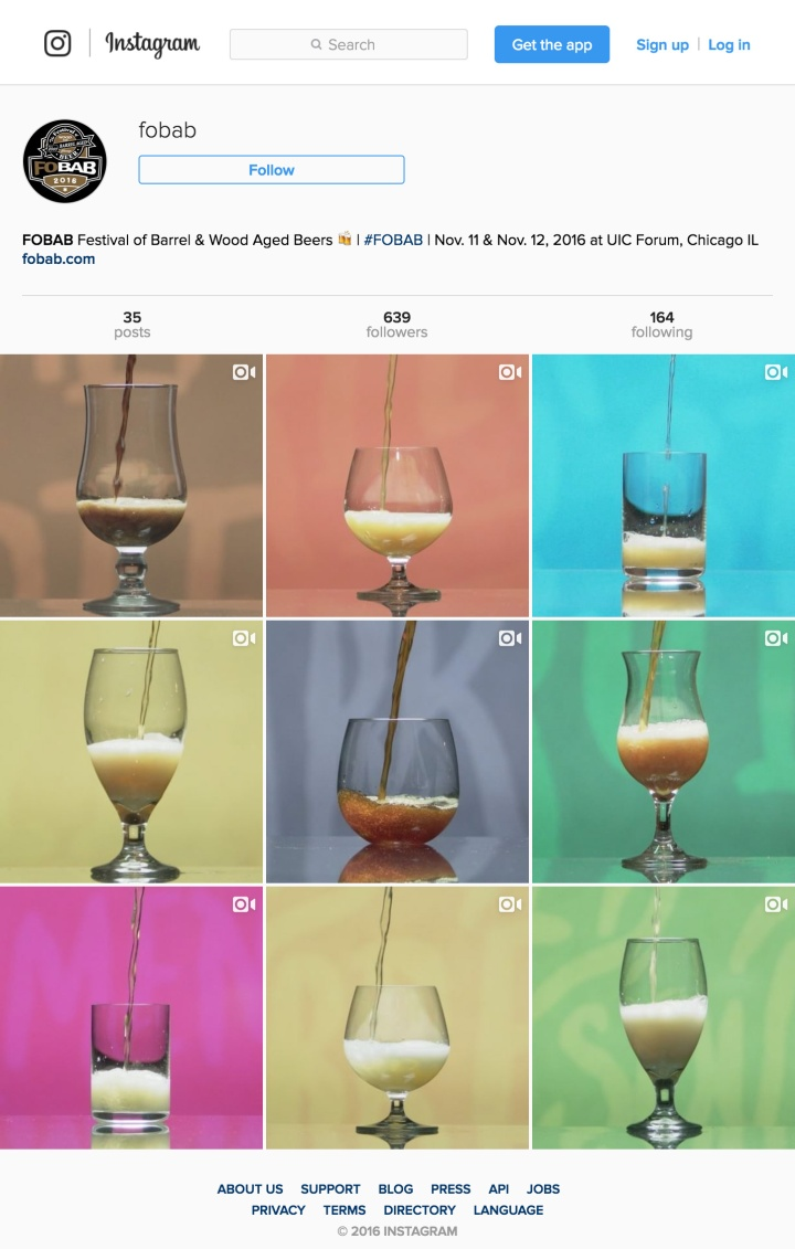 FoBAB Instragram feed featuring colorful, branded videos explaining each style.